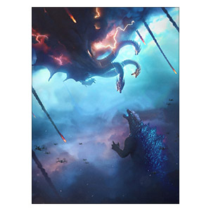 Godzilla. Размер: 30 х 40 см